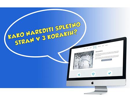 kako narediti spletno stran v 3 korakih Rene Mlekuž